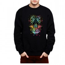 Tiger Face Cubism Colourful Men Sweatshirt S-3XL New