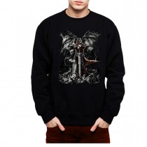 Grave Reaper Skull Sword Men Sweatshirt S-3XL New