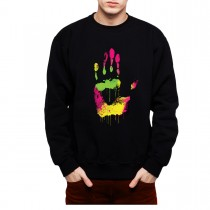 High Five Hand Fingers Mens Sweatshirt S-3XL