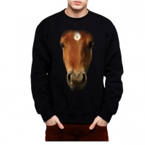 Horse Face Animals Men Sweatshirt S-3XL New