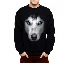 Husky Face Dog Animals Men Sweatshirt S-3XL New