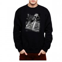 Journal Diary Skull Book Men Sweatshirt S-3XL New