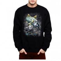 Snook Fish Fishing Mens Sweatshirt S-3XL