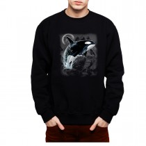 Killer Whale Wild Sea Animals Men Sweatshirt S-3XL New