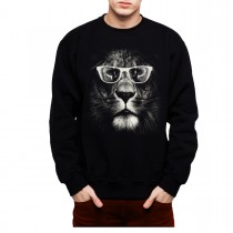 Lion Glasses Funny Animals Men Sweatshirt S-3XL New