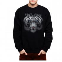 White Tiger Animals Blue Eyes Men Sweatshirt S-3XL New