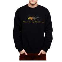 Ford Mustang Grille Gold Logo Men Sweatshirt S-3XL