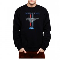 Ford Mustang Logo Men Sweatshirt S-3XL
