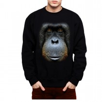 Orangutan Face Animals Men Sweatshirt S-3XL New