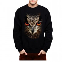 Owl Face Animals Men Sweatshirt S-3XL New
