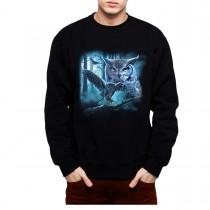 Owl Moon Night Mens Sweatshirt S-3XL