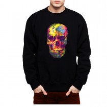 Painted Skull Funny Colourful Men Sweatshirt S-3XL New