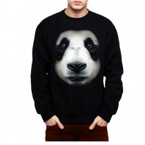 Panda Face Animals Men Sweatshirt S-3XL New