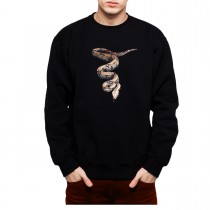 Python Snake 3D Animals Men Sweatshirt S-3XL New
