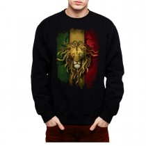 Rasta Lion Men Sweatshirt S-3XL New