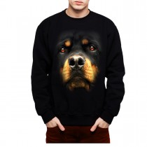 Rottweiler Face Dog Animals Men Sweatshirt S-3XL New