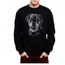 Rottweiler Dog Drawing Mens Sweatshirt S-3XL