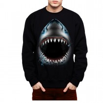 Shark Jaws Animals Men Sweatshirt S-3XL New