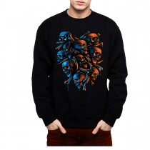 Skeleton Skulls Horror Men Sweatshirt S-3XL New