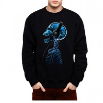 Skeleton Skull Headphones Music Men Sweatshirt S-3XL New
