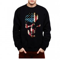 American Skull Men Sweatshirt S-3XL New