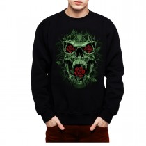 Thorn Rose Skull Horror Men Sweatshirt S-3XL New