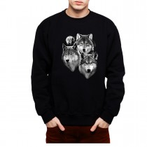 Three Wolves Moonshine Men Sweatshirt S-3XL New