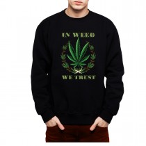 Cannabis Weed Smoke Men Sweatshirt S-3XL New