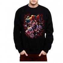 Joker Skull Cards Clown Mens Sweatshirt S-3XL