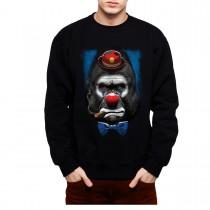 Gorilla Clown Face Funny Mens Sweatshirt S-3XL