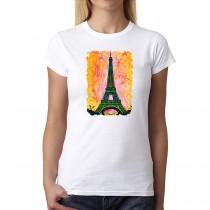 Eiffel Tower Paris Cubism Women T-shirt XS-2XL New