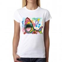 Dean Russo Shark Cubism Women T-shirt XS-3XL New