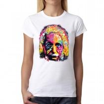 Albert Einstein Cubism Women T-shirt XS-2XL New