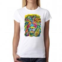 Dean Russo Lion Cubism Animals Women T-shirt XS-3XL New