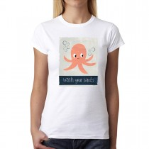 Wash Your Hands Octopus Funny Women T-shirt XS-3XL New