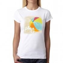 Summer Play Ball Women T-shirt XS-3XL New