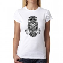 Owl Tattoo Womens T-shirt XS-3XL