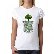 Tree Roots Nature Womens T-shirt XS-3XL