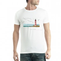 Lighthouse Sea View Men T-shirt XS-5XL New
