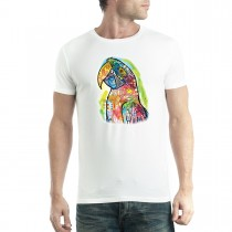 Dean Russo Macaw Animals Parrot Cubism Men T-shirt XS-5XL New
