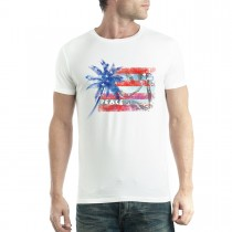 Peace Palm America Flag USA Men T-shirt XS-5XL New