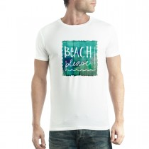 Beach Please Sign Summer Men T-shirt XS-5XL New
