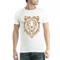 Gold Lion Art Tattoo Mens T-shirt XS-5XL
