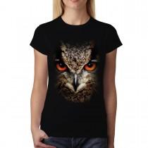 Owl Face Animals Women T-shirt M-3XL New