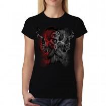 Skull Mafia Guns Women T-shirt M-3XL New