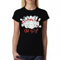 Bowling Funny Women T-shirt XS-3XL New