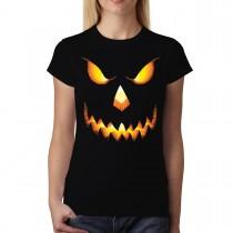 Pumpkin Head Halloween Horror Women T-shirt XS-3XL