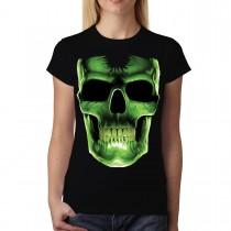 Glow Bones Green Front Women T-shirt M-3XL New