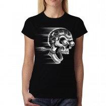 Skull Eyes Eye Balls Funny Women T-shirt M-3XL