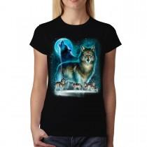 Howling Wolf Horde Women T-shirt M-3XL New